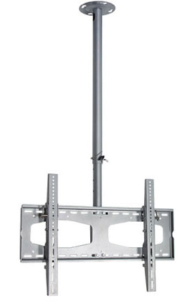 1123 Silver Flat Panel TV Ceiling Mount
